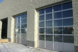 All-Mont commercial jobs two door windows | Orangeville Garage Door Experts