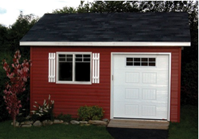 Why should I install a sectional door on my shed or small garage?