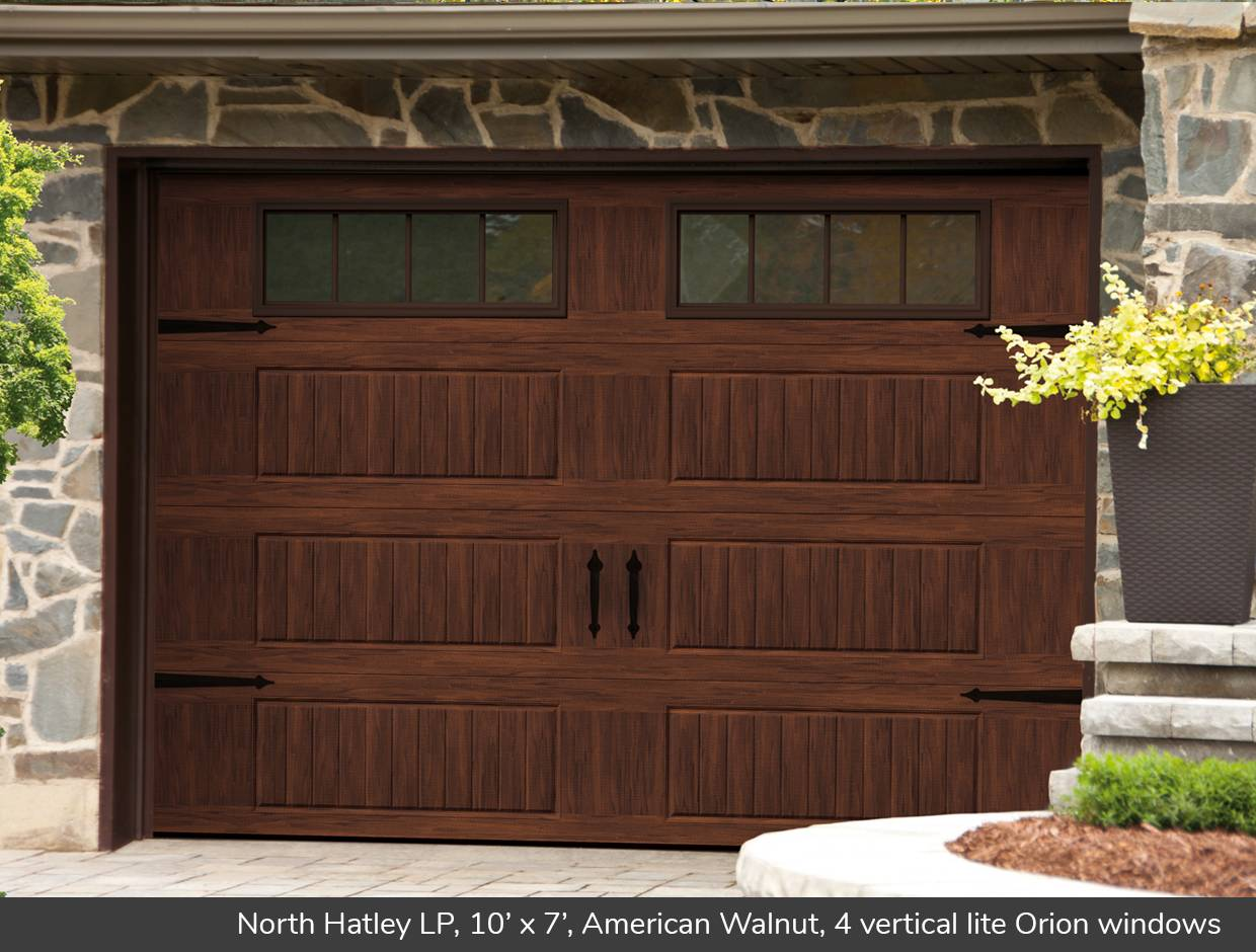 North Hatley LP, 10' x 7', American Walnut, 4 vertical lite Orion windows